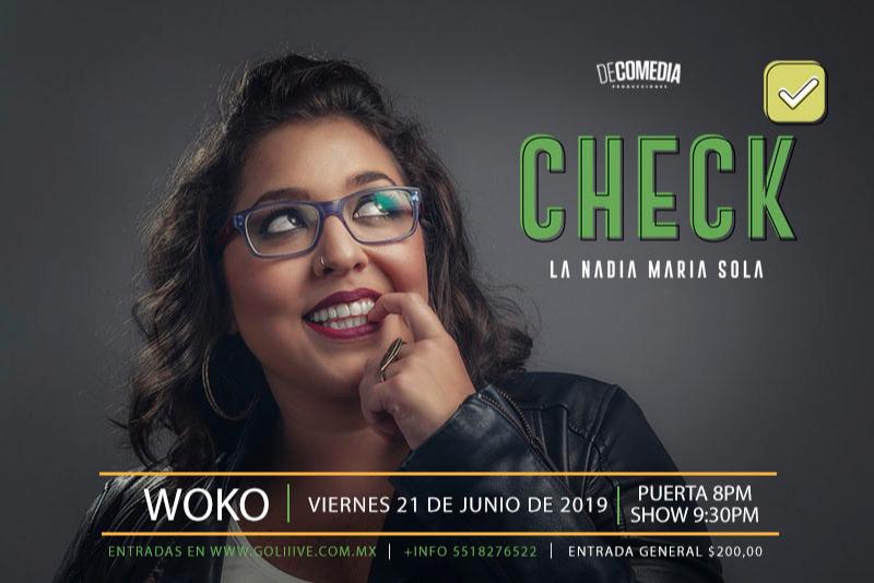 Check La Nadia Maria Sola NUEVA FUNCIÓN