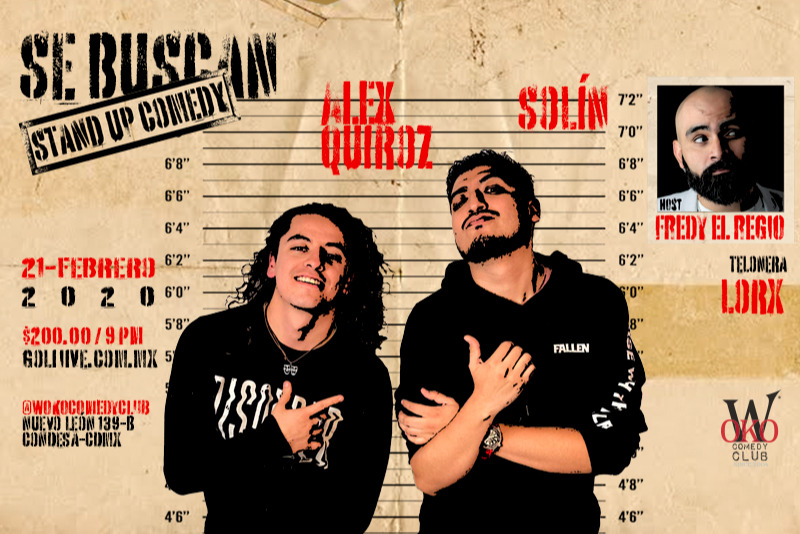 Se Buscan, Stand Up Comedy - Alex Quiroz Y Solín