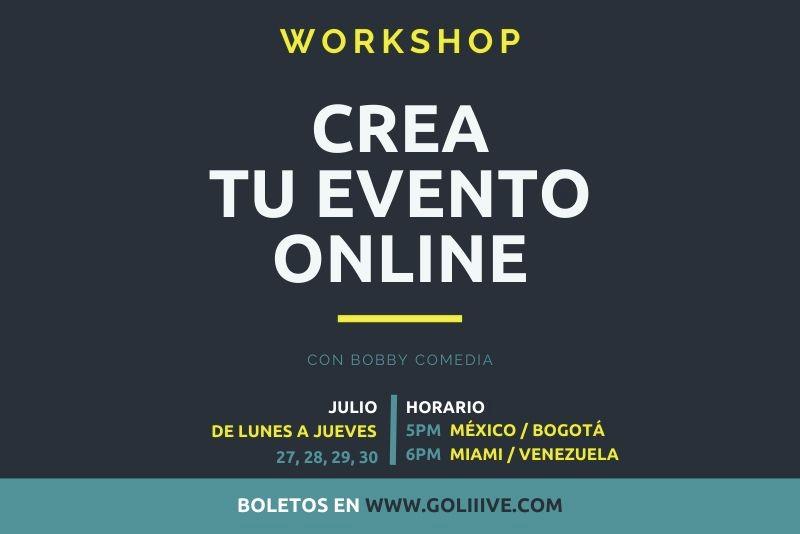 WORKSHOP Crea tu evento ONLINE-