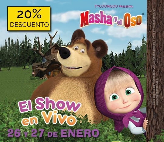 Masha y el oso, el show en vivo
