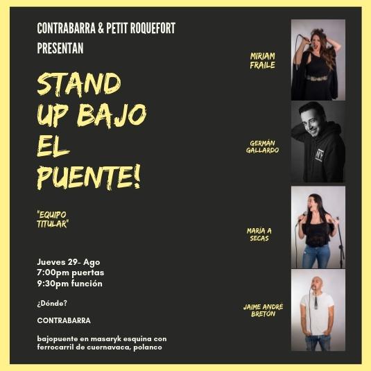 Stand Up Bajo el Puente - 29 de agosto