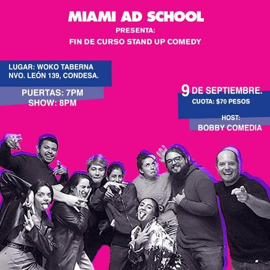Miami Ad School - Fin de curso Stand Up Comedy