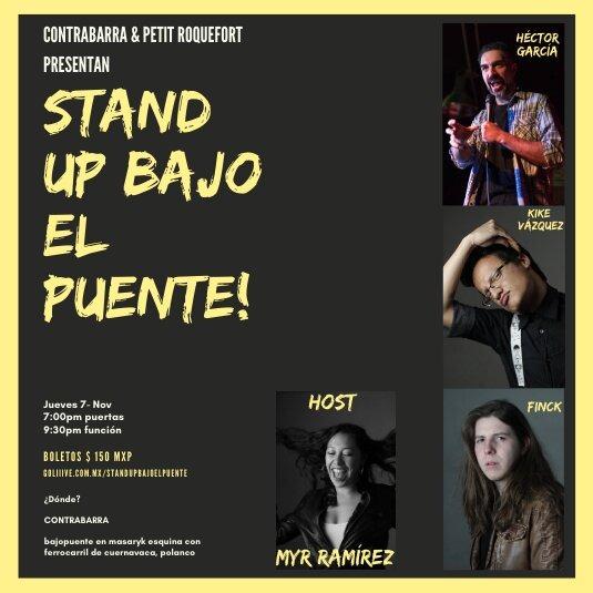 Stand Up Bajo el Puente 7 nov.