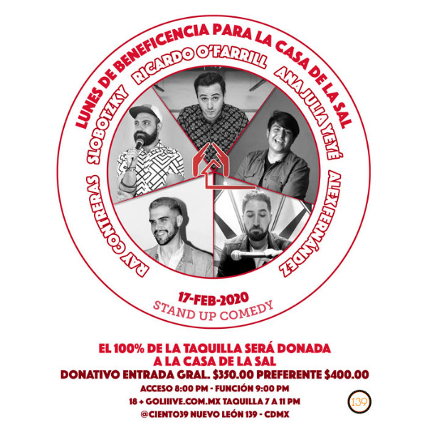 Stand Up Comedy - Lunes de Beneficencia