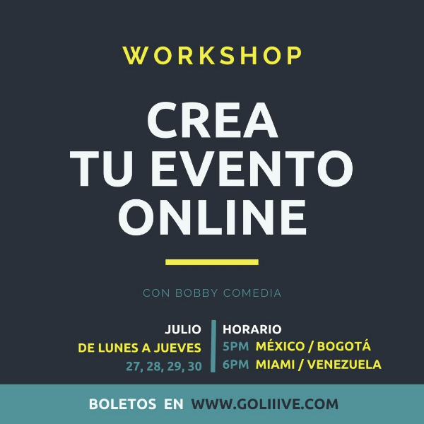 WORKSHOP Crea tu evento ONLINE-