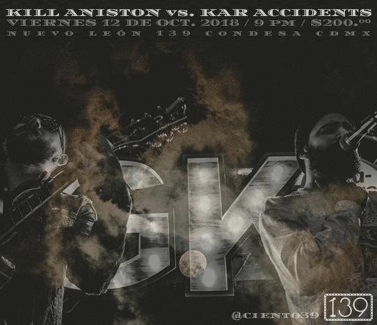 Kill Aniston vs. Kar Accidents, Acústico en 139