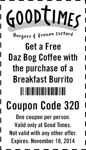 Good times coupons