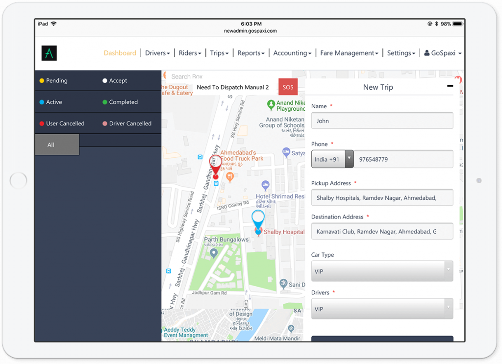 manual-dispatch-taxi-app