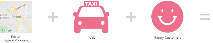 Taxi app logo development