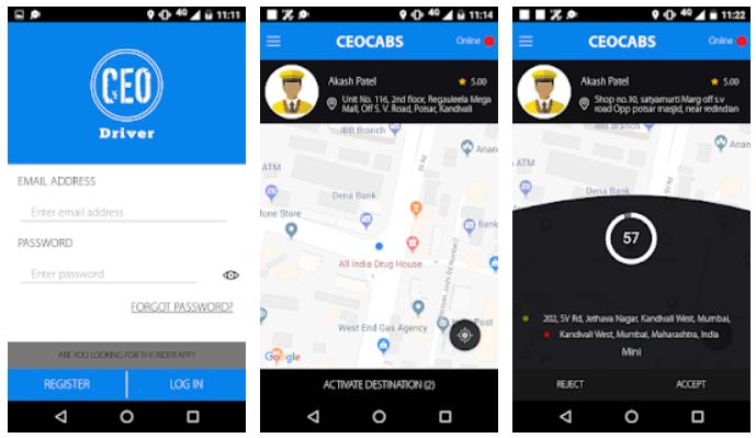 CEO Cabs driver app