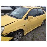 2003 Yellow Suzuki Aerio Gs I4, 2.0l