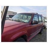 Re1999 Red Ford Explorer Xl V6, 4.0l