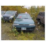 1993 green Honda Accord EX I4, 2.2L
