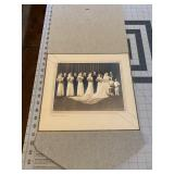 Large Professional Cabinet Photo of a Wedding