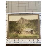 Mountain Cabin Colorized CDV Man and Rifle