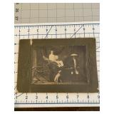 CDV of Asian Man pulling Cart  with Dog Beside It