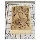 Suit and Tie Young Gentleman Memorial Flower Card