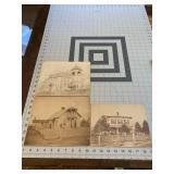 3 Fantastic Antique House Cabinet Cards