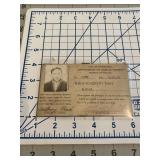 1930 Pittsburgh PA Taxi/Vehicle License w Photo