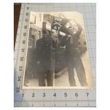 Photo of 2 Military Guys Holding Unit Guidon