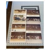 Lot of 4 Dual Photo Horse Racing Photos