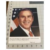 Ex President George Bush Thank you Photo Letter