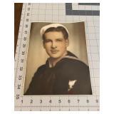 Wonderful Navy Sailor Studio Photograph