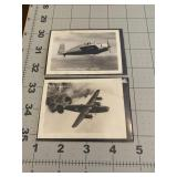 2 Military WW2 Fighter Plane Photographs