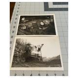 2 Vintage Industrial Snapshot Photographs