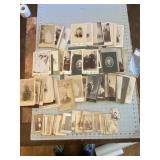 Lot of 144 Various Antique Cabinet Cards Wonderful