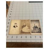 Antique Lot of 3 Tax Stamp CDV Photos