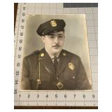 Colorized Policeman Studio Photograph