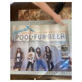 Metallica Pool Beer Fun Music Store Poster