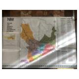 1977 Norfolk Western Railway Coal and Mines Map