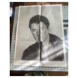 Vintage Elvis Presley Rock and Roll Poster