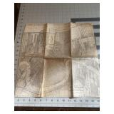 Early Vintage New Orlean Map Historic Piece