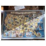 Viintage Esso Gas Folklore Legends Fold Map