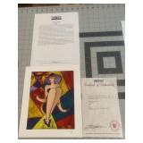 Linda Le KinffOriginal Signed Serigraph COA