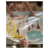 Lot of 2 Vintage Teenage Dating Posters