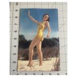 Giant Pin Up Girl 1940s Post Card