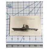 USS Saratoga Battleship Real Photo Postcard