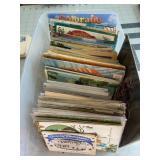 Huge tub Full of Antique and Vintage Postcards