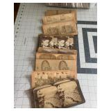 Nice lot of Antique Stereoscope Photo Cards