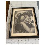 Framed Shirley Temple Print Lithograph
