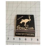 Huge Stork Club NYC Collectible Matchbook