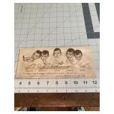 The Dionne Quintuplets Canada Card