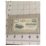 1862 Summit County Bank Civil War Ten Cent Note