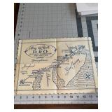 Vintage B and O Railroad Placemat Map