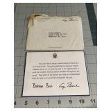 President Bush Letter of Appreciation Thanks