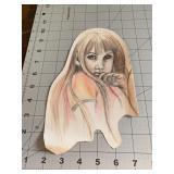 Creepy Girl Hand Drawn Piece Very Well Done